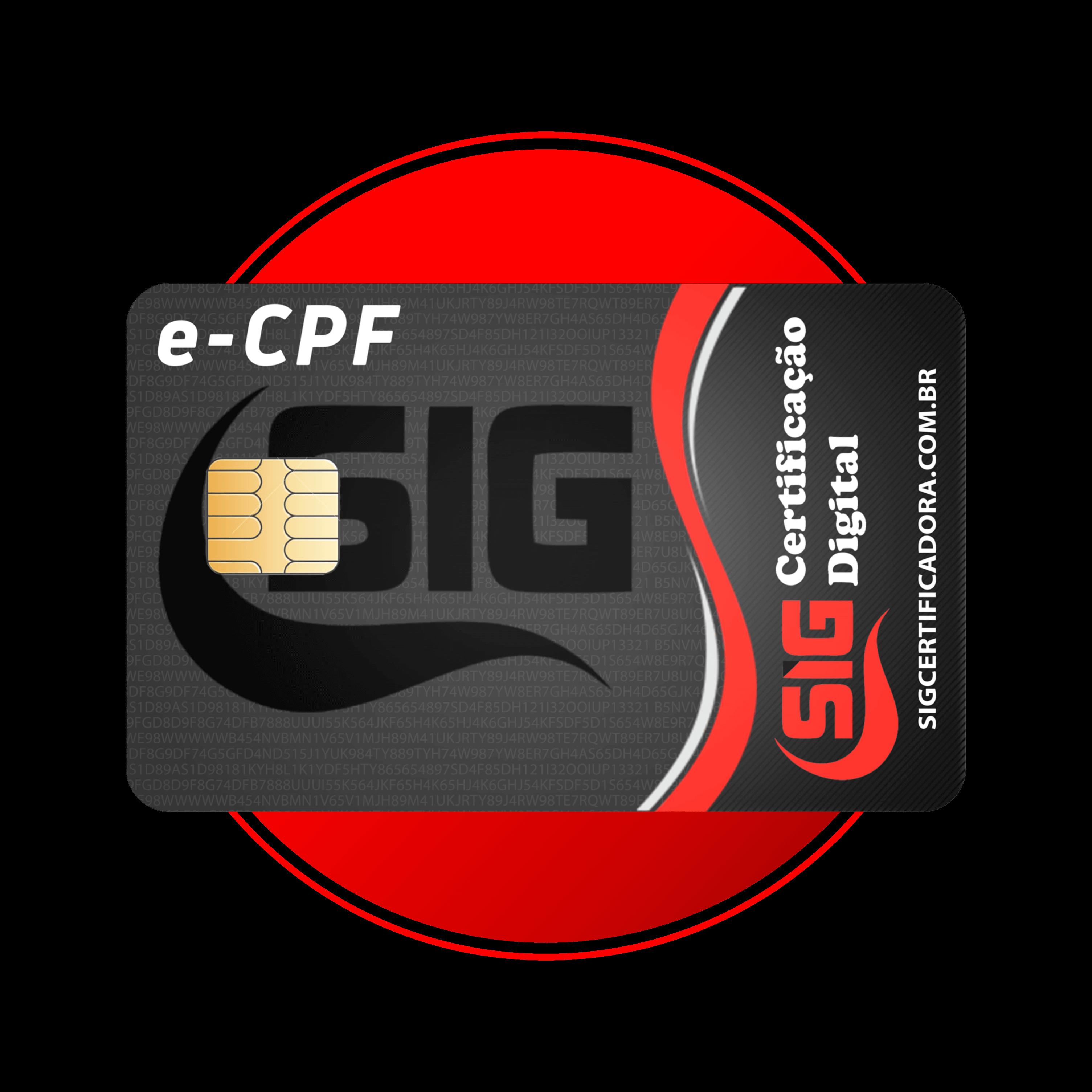 e-CPF A3 - 1 ANO em cartão
